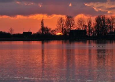 Sonnenuntergang über Arnis