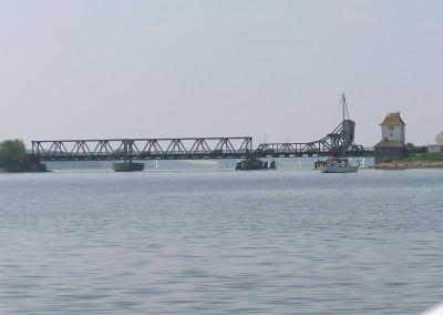 Eisenbahnbrücke bei Lindaunis