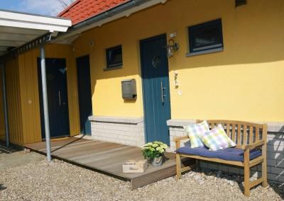 Ferienhaus Det gule Hus Hauseingang