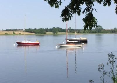 Segelboote vor Sieseby